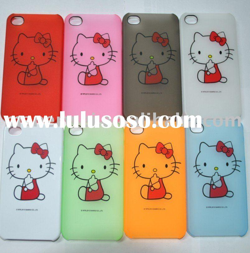 Hello kitty plastic case for iphone 4