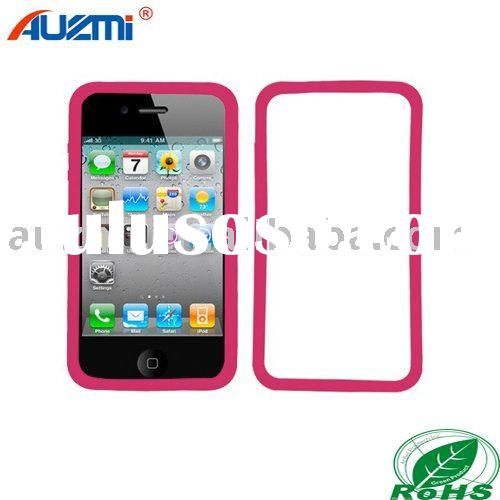 Hot Pink Bumper Hard Skin Case Apple iPhone 4 4G