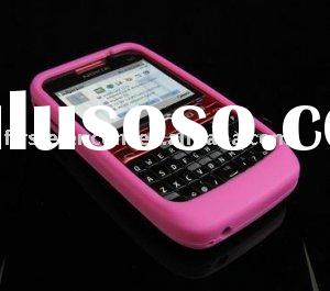 Hot Pink Soft Rubber Silicone Skin Cover Case for Nokia E63