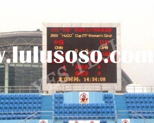 P20 cheap outdoor bicolor scoreboard; a score indicator led display for big stadium