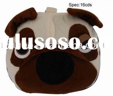Portable Cute DOG  Toy CD DVD Carrying Storage Bag Case 24