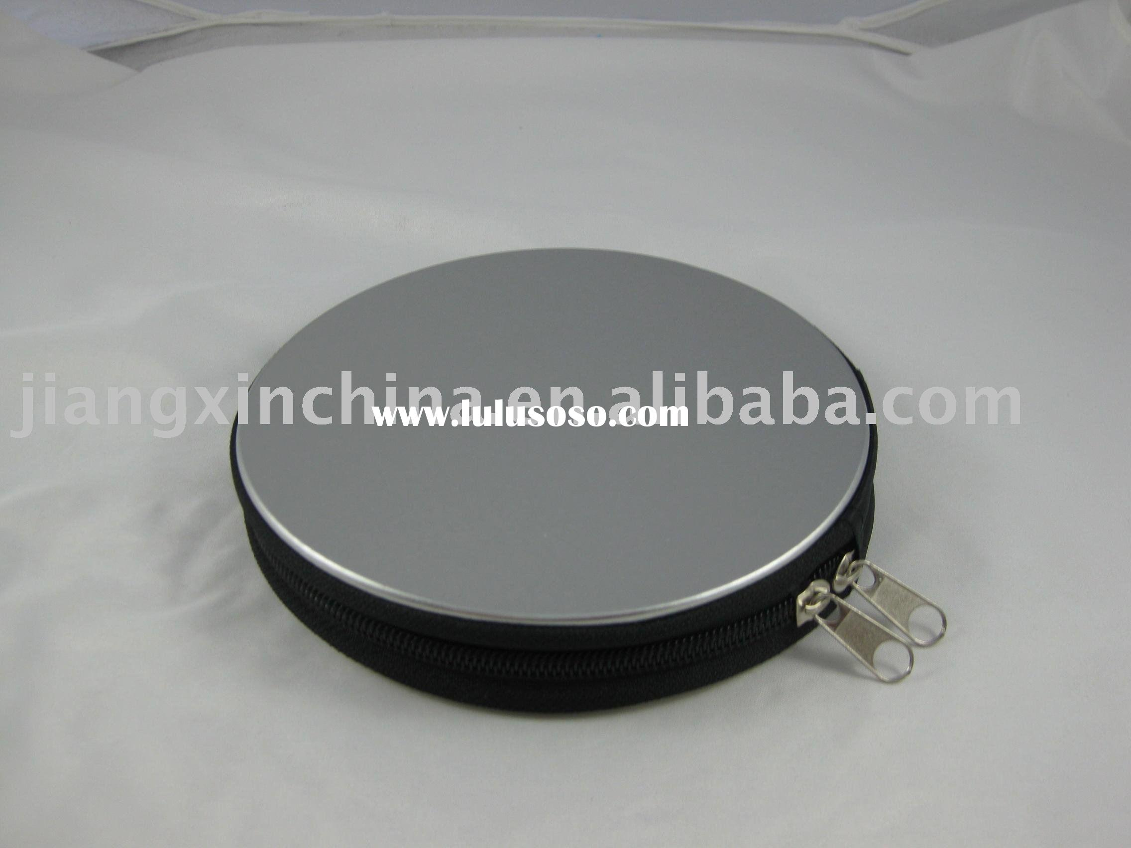 Tinplate  round CD DVD case/ holder/ container