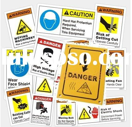 Warning & Safety Signs for Adhesive Labels Printing