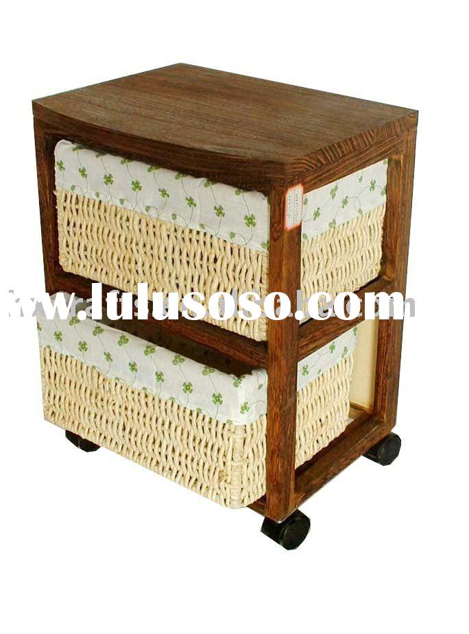 Wooden Cabinet With Wheels