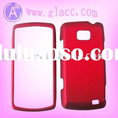for lg ally clear crystal hard case cover skin faceplate solid red