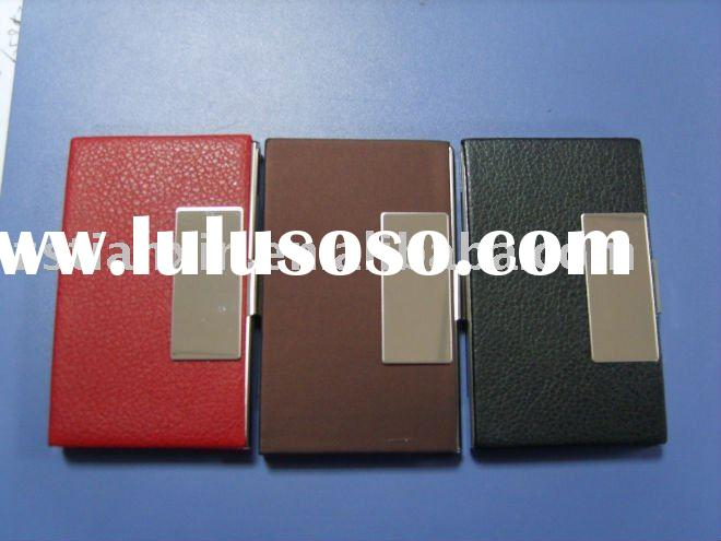 leather business card case, name card holder
