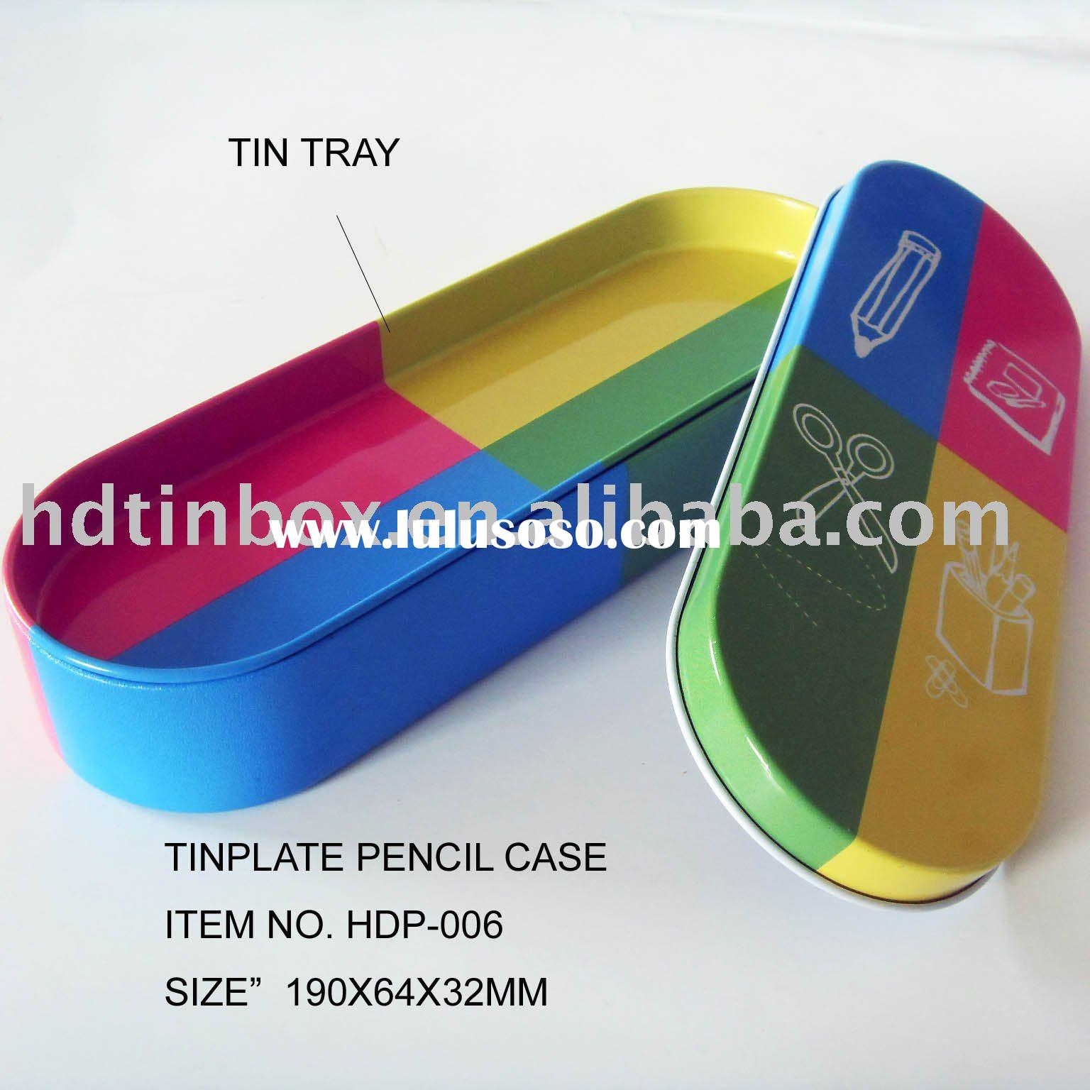 pencil tin with high quality colorful printing