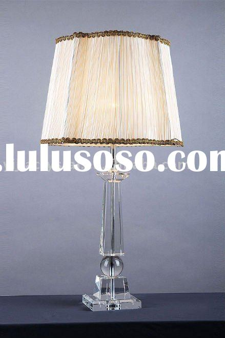 Antique Crystal Table Lamp