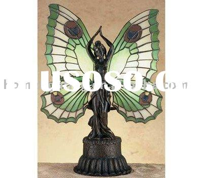 Tiffany style lamps,Butterfly Lady Tiffany Stained Glass Accent Lamp ,TF-17123