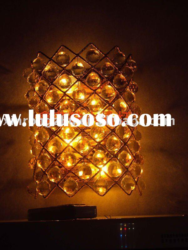 decorative crystal wall lamp for guest room