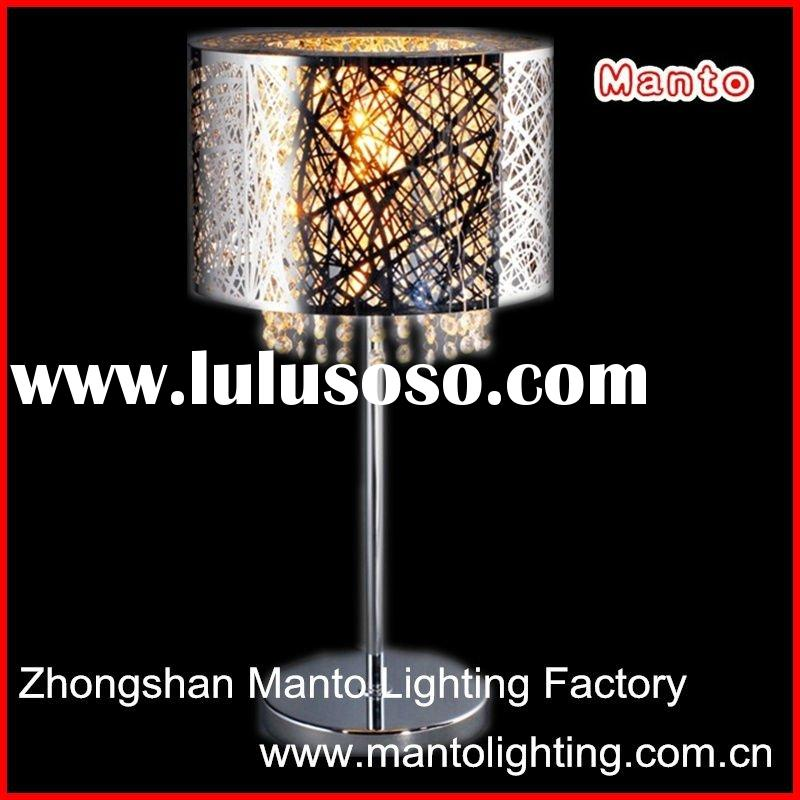 modern stainless steel table lamp shade