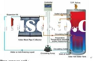 homemade solar hot water heater system