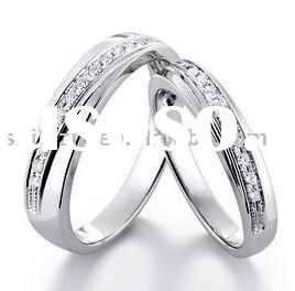 18K White Gold with Diamond Wedding Bands or rings