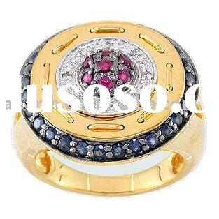 18K gold ring with setting CZ stone