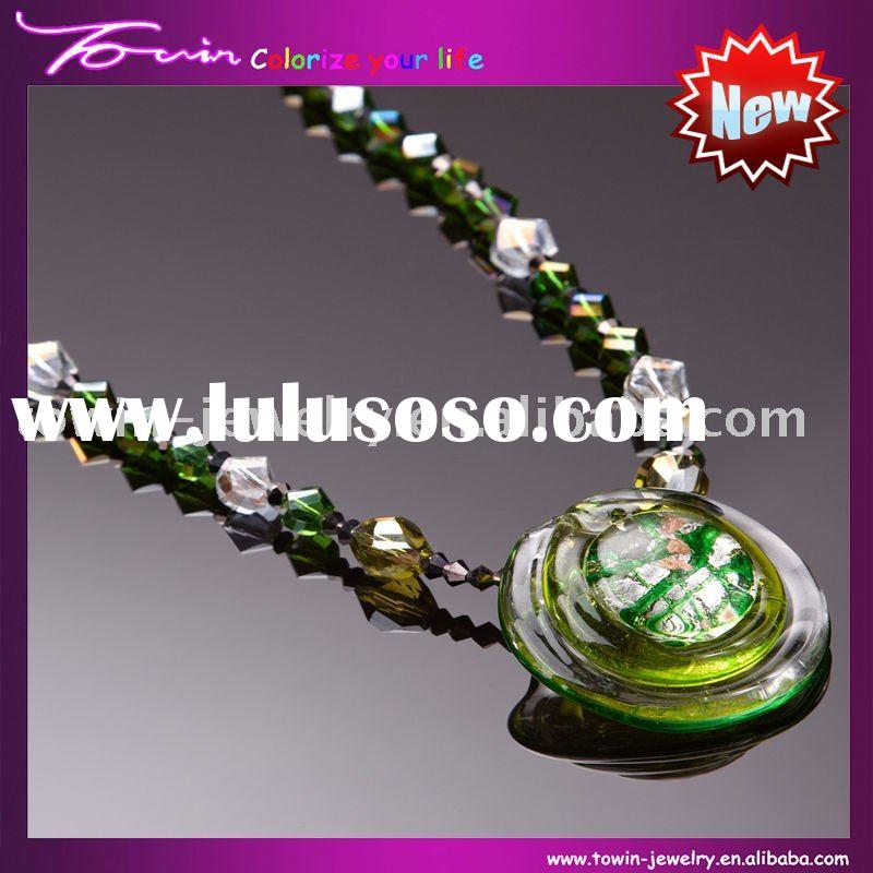 2011 Fashion Lampwork beads necklace