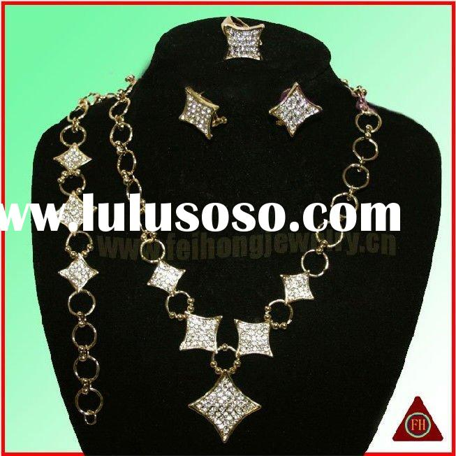 2011 Most Popular fashion wedding alloy imitation costume Jewelry set