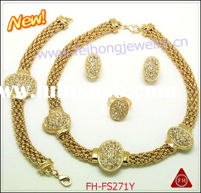 2011 cheap rhinestone fashion jewelry/costume jewelry/wedding jewelry