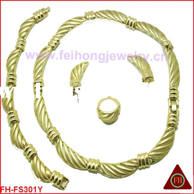 2011 newest costume gold plated  jewelry set/african jewelry