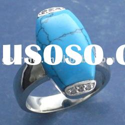 925 Silver rings setting with turquoise