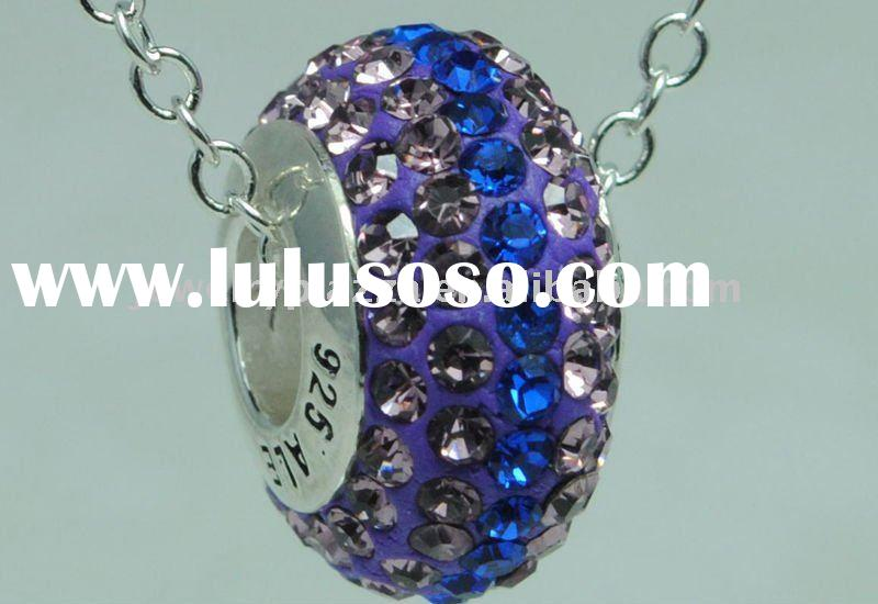 925 sterling silver  Ale Pandora Crystal necklace Bead BEAD13