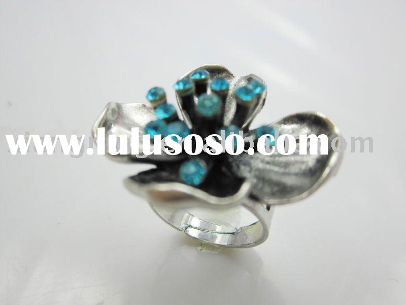 Alloy antique silver  rings