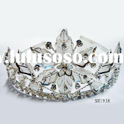 CTC0003 wedding or bridal  or CZ diamond crown tiara fashion jewelry costume or imitation jewellery