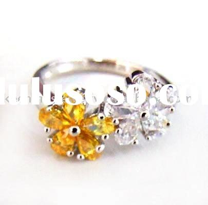 CZ ring/Stylish and unusual silver ring /fashion 925 sterling silver jewelry/