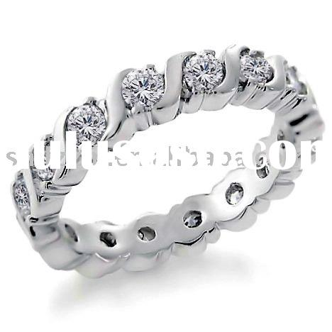 Eternity Band Rings (925 Sterling Silver Cubic Zirconia)