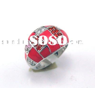 Fashion Flower Silver Ring
