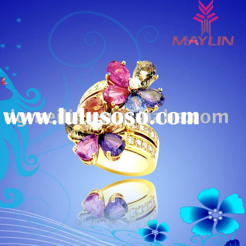 Fashion stainless steel jewelry ring  in China MLRS-596