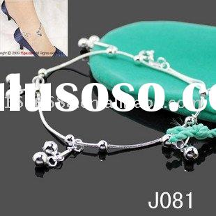 Hot Fashion Wholesale Jewelry 925 Sterling Silver Anklet High Shiny New Style J081