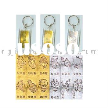 Personalized crystal key ring