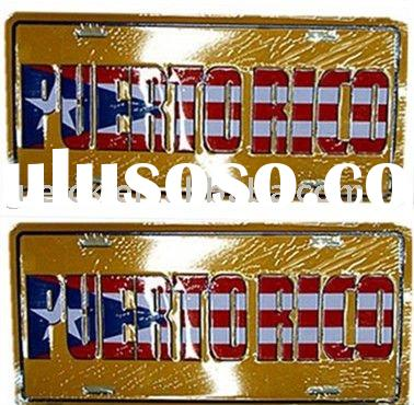 Puerto Rico CAR LICENSE PLATE
