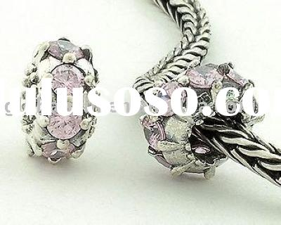 S925 Sterling Silver Rudder Type Letter Circular Sets Beads/ Fashion Jewelry/ Wholesale & Retail