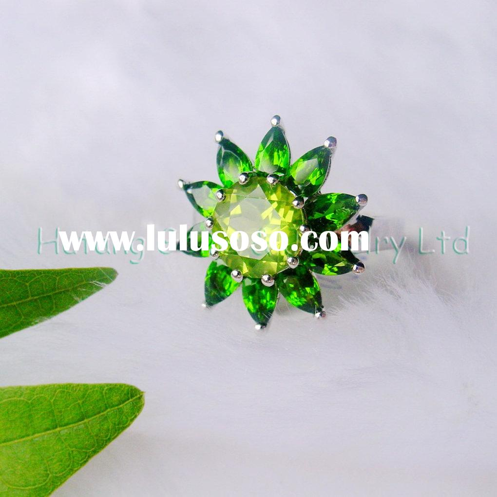 Silver Jewelry: sunflower ringUSR587
