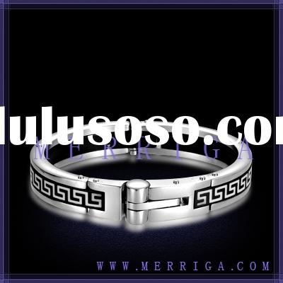 Wholesale high end fashion stainless steel bangle men jewelry with high quality