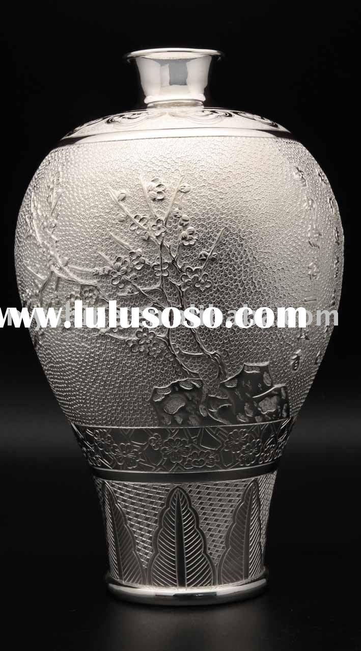 round silver vase for sale price china manufacturer supplier 679081. Black Bedroom Furniture Sets. Home Design Ideas