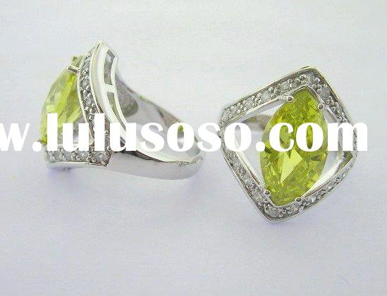 fashion gemstone silver ring