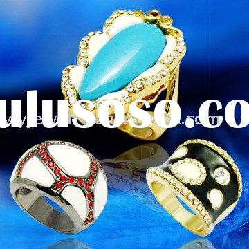 fashion jewelry big rings exotic