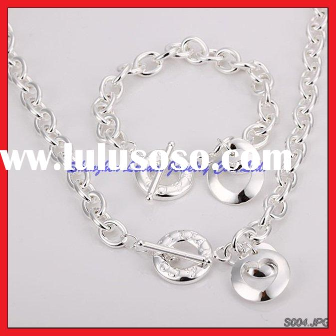 fashion silver jewelry set