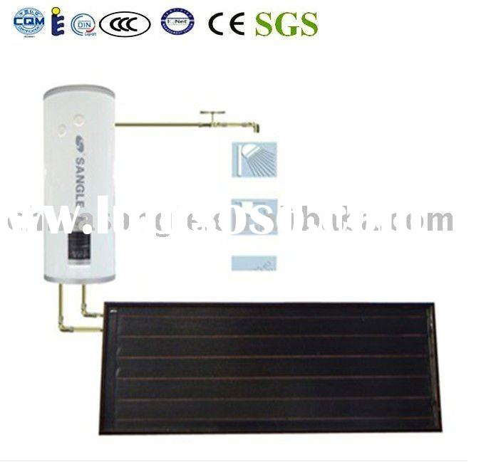 flat panel split pressurized solar water heater