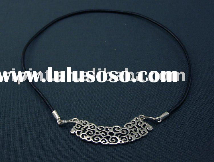 leather necklace /925 sterling Silver Handmade Jewelry SX0007