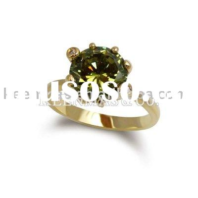 wholesale 925 sterling silver jewelry .CZ tone +gold-plated silver rings