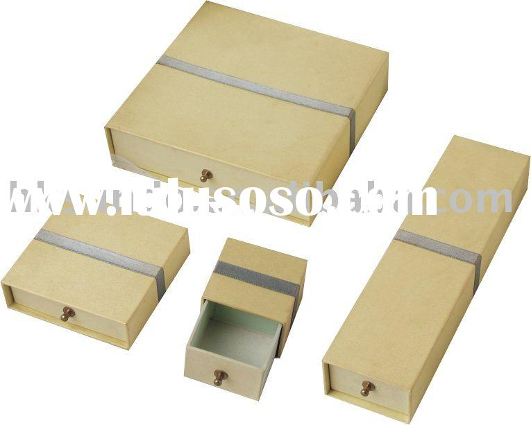 wholesale fashion drawer paper jewelry boxes sets