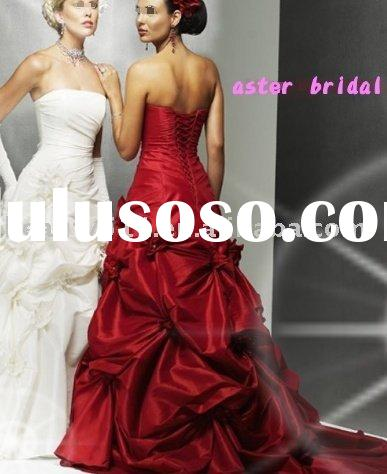 2009 best-selling red wedding dresses GA-009