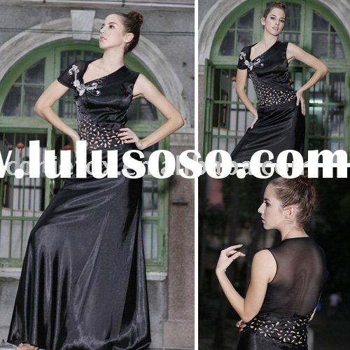 2010 Regal black embroidery prom dress 56201