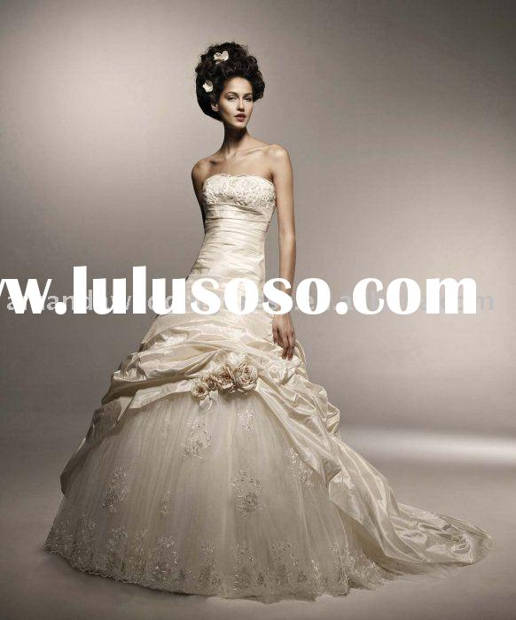 2010 factory Latest design Bridal Gown wedding dress