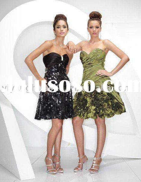 2010 western new style short prom dress