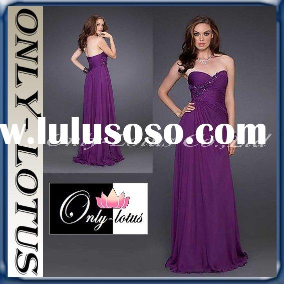 2011 Christmas Hot Zone purple prom dress