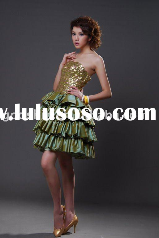 2011 Fashion  Sequin Short Prom Dress